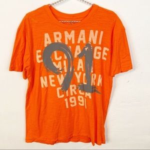 Armani Exchange l Orange Graphic T-shirt